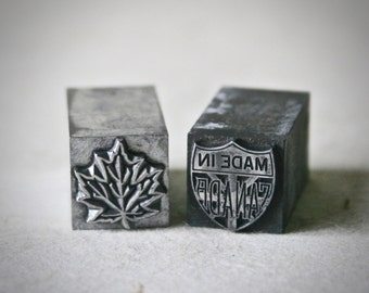 Canadian Themed Letterpress Type for Printing Stamping and Decor