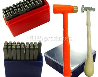 3 mm Complete Mazbot UPPERCASE / LOWERCASE Letter Number Stamping Punch Pro SET JSET14703