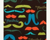 Fall Sale - It's a Moustache - Cotton Quilting - 1 yard