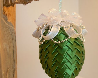 Green Ribbon Christmas Ornament