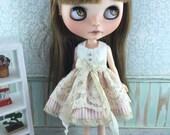 Blythe Lacey Dress - Apricot Stripe