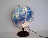 "Vintage 12"" Illuminated Celestial Globe Made in Denmark - Stunning"