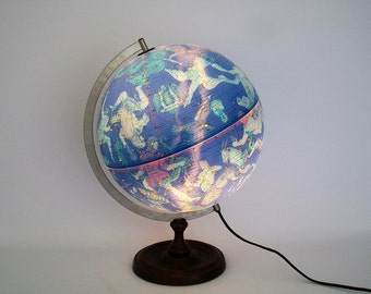 "Vintage 12"" Illuminated Celestial Globe Made in Denmark - Stunning"