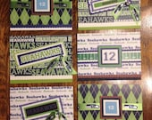 Set of Six Seahawks Blank Note Cards Set One