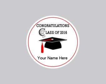 Set of 16 Graduation Tags, Personalized Graduation Tags, Graduation Gift Tags, Graduation Favor Tags, Graduation Bag Tags