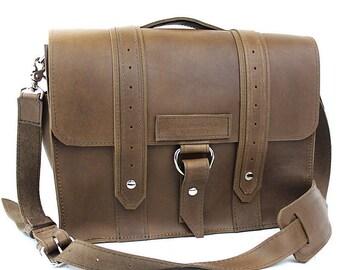 """14"""" Brown Newtown Voyager Laptop Bag - 14-V-BR-LAP"""