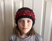 Custom for RUBY red and black skull hat