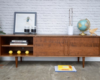 IN STOCK! Kasse Credenza / TV Stand - Solid Cherry - Teak Finish