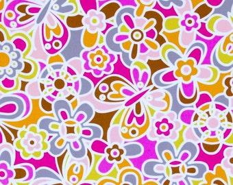 CLEARANCE - Erin McMorris Weekends, Kaleidoscope in Brown, 1 yard, Cotton Fabric