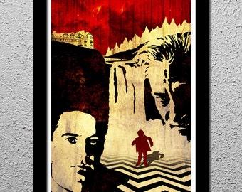 Return to Twin Peaks - Agent Dale Cooper - Killer Bob - Original Minimalist Art Poster Print