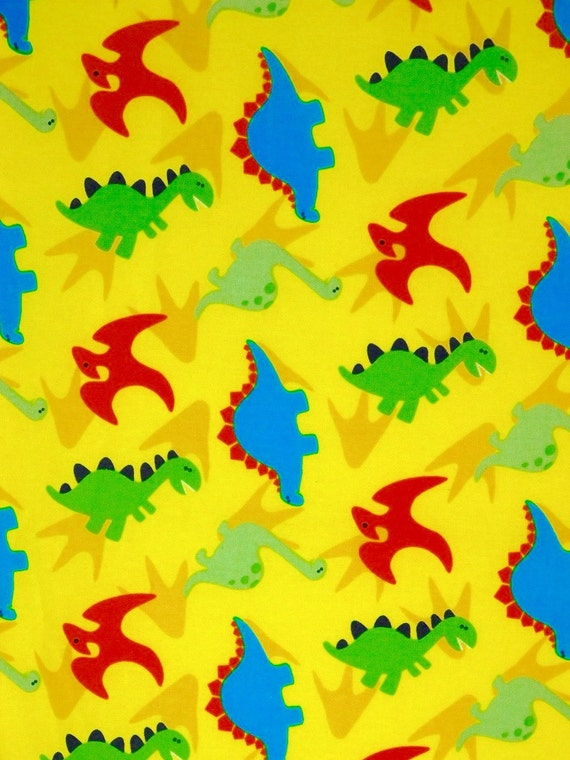 Dinosaurs fabric children fabric 100 cotton fabric for for Kids dinosaur fabric