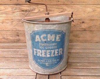 Vintage Acme Ice Cream Pail