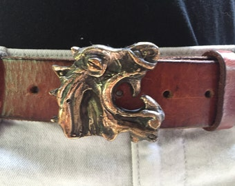 Bronze Viking Dragon Belt Buckle