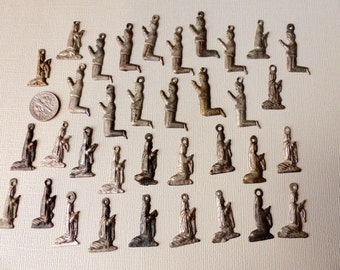 Vintage Mexican Milagros Thirty-five Praying Men and Women