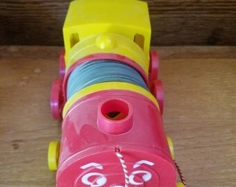 REDUCED Vintage 1950s SLINKY TRAIN Pull Toy by James Industries Original Box