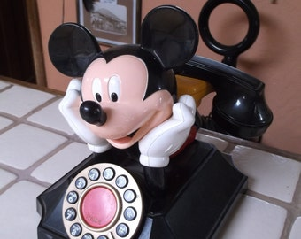 1970s Mickey Mouse Telephone, Segan, Telemania