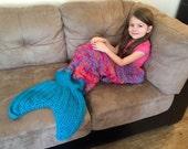 Mermaid Tail Blanket/ Mermaid Tail Afghan/ Mermaid Blanket/ Crochet Mermaid Tail Blanket/ Toddker to Adult Size- MADE TO ORDER