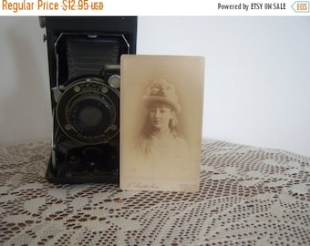 Antique Pretty Girl Carte Sepia Photograph  Online Vintage, vintage clothing, home accents, vintage dress