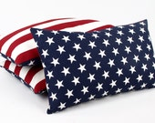 "USA American Flag Reversible Lumbar Pillow Cover (12x20""), July4th Decor, Patriotic Pillow, America, Star Pillow, Red White and Blue"