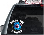"""Baby Dory """"BABY ON BOARD"""" Sign Vinyl Decal Sticker for Cars / Trucks"""