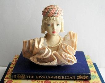 Vintage Portuguese Biscuit Woman Figurine