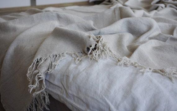 Linen NATURAL blanket#Home Dekor#luxury linen