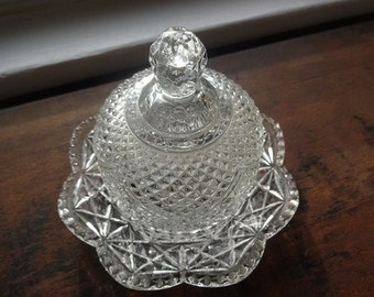 Avon Glass Dome Vintage Butter Dish