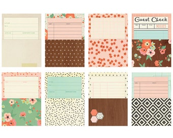 Simple Stories The Reset Girl Library Cards with pockets
