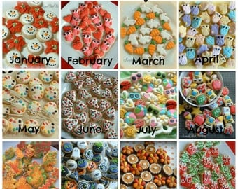 Cookie of the Month Club - 1 dozen MINI cookies per month - SweetArt Sweets