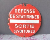 French Vintage Enamel Street Sign Car Sign Car Plate / Collectible, Home decor, French sign