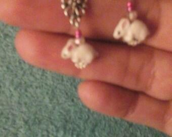 Bunny  earrings ( ready to ship)