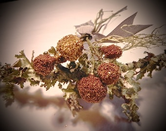 Bohemian Antique Gold Stamen, Floral Stamen, Woodland Stamen, Avant-Garde Floral Supply, European Millinery,