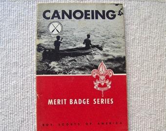 Vintage Canoeing Boy Scouts Of America 1957 Merit Badge Series