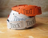 ON SALE Vintage Trick or Treat Tickets 100 Tickets Halloween Decor Party Supplies