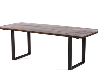 Maddox Reclaimed Wood Dining Table -  Dark Walnut - Custom Sizes & Finishes Available