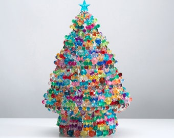 Celebration - Handcrafted Beaded Christmas Tree with Lights