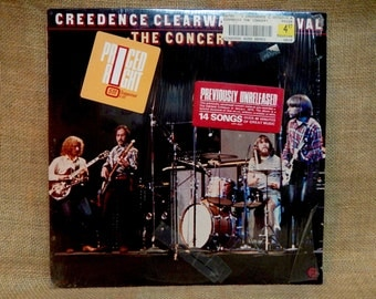 CREEDENCE CLEARWATER REVIVAL - The Concert - 1981 Vintage Vinyl Record Album