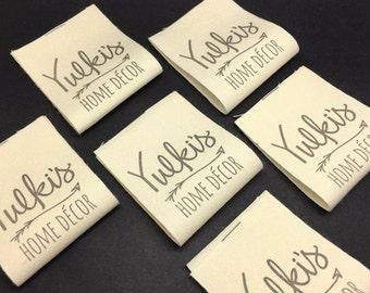 1000 Cotton labels, cotton print Label, Cotton Sewing Labels, Name Labels, Cotton Care Label