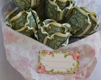 Bouquet of 5 Money Roses