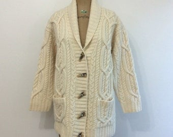 Ralph Lauren Fisherman Toggle Wool Cardigan Sweater