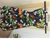 Black floral Apron