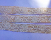 Burlap and Lace Ribbon, 1 1/2 Inch Wide, Wedding DIY Supplies, Wedding, Shower, Party, Home Decor, Crafting