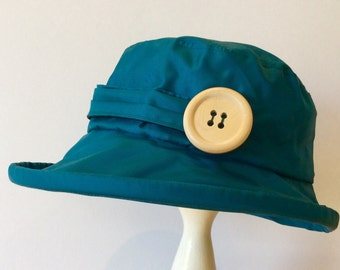 Teal  PU Rain Hat