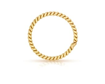 14Kt Gold Filled 20ga 7mm Twisted Closed Jump rings  - 10pcs  High Quality Jump Rings (6495)/1