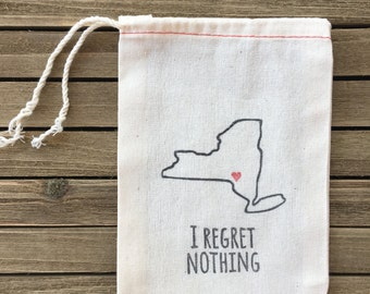New York Bachelorette Party - Bachelorette Party Favor Bag - I regret nothing hangover kit - Bachelorette Party Favors - Hangover Kits