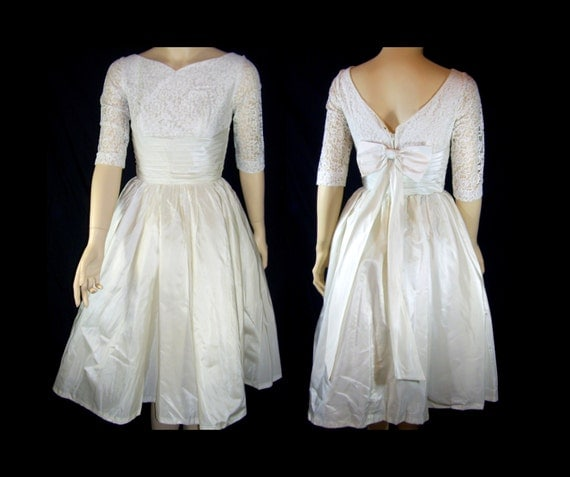 Vintage Wedding Dress Xs: Vintage 1960s Wedding Prom Dress XXS XS B32 White Lace Tulle