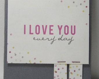 I Love You Everyday Birthday Reminder Book