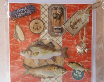 "Card ""Gone Fishing"""