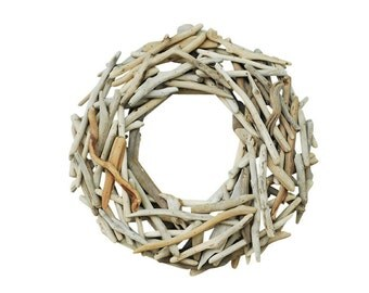 "22"" Driftwood Handmade Front Door Wreath-Organic Wreath-Rustic Wreath-Door Wreath- Summer Wreath-"