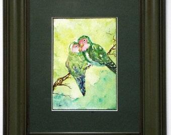 Orig Watercolor- Love Birds